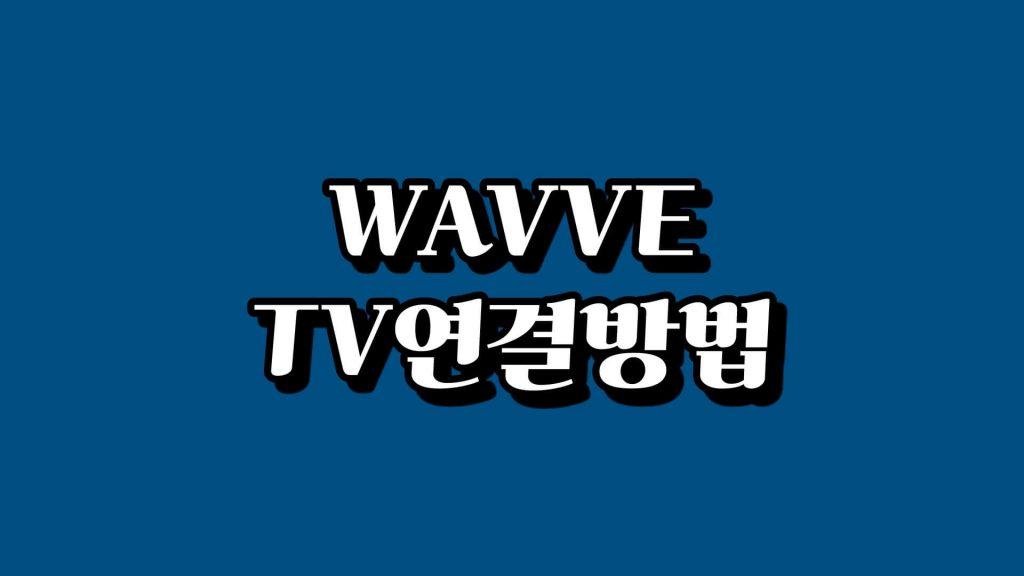 WAVVETV연결